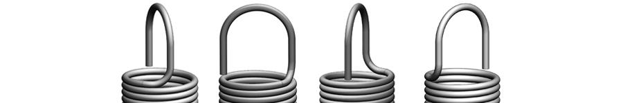 Extension springs with german eyes