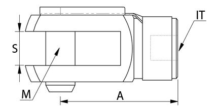 Tekninen piirustus - Haarukkapää