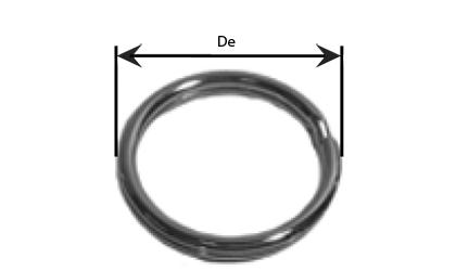 Tekninen piirustus - Avainrenkaat  - Galvanoitu