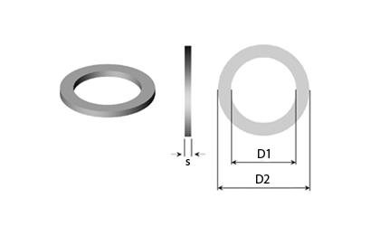 Tekninen piirustus - Aluslaatat & Säätölevyt